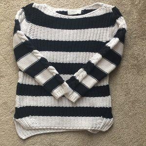 Zara Knit Boatneck Striped Sweater